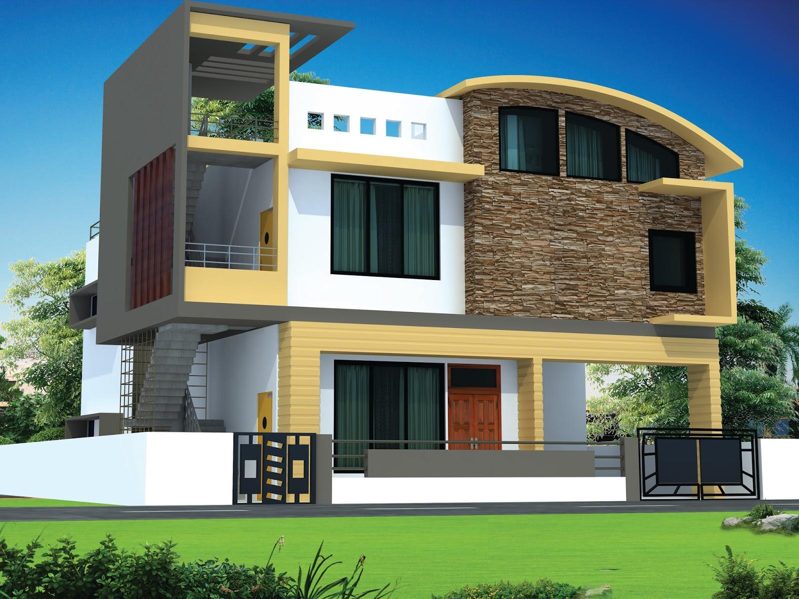 Modern house design modern house designs new architecture unique india bunglaw building facade view 3d exterior home concept