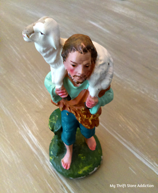 antique mall vintage chalkware shepherd