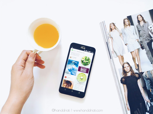foto flatlay dengan menggunakan kamera smartphone