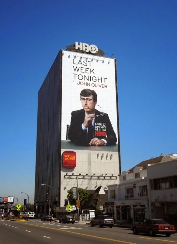 Last Week Tonight John Oliver billboard Sunset Strip