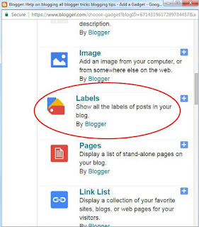 how to add categories in blogger BlogSpot