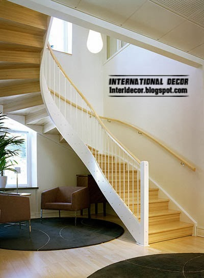 spiral staircase , modern staircase design - interior stairs