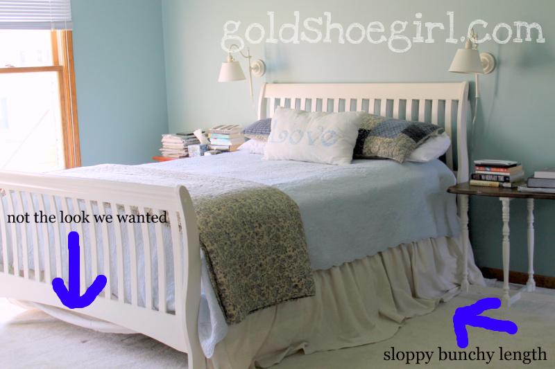 Gold Shoe Girl Diy Dropcloth Bedskirt