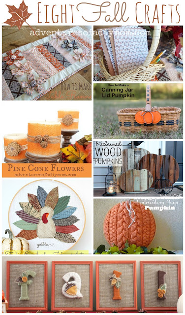 Eight Fall Crafts Collage