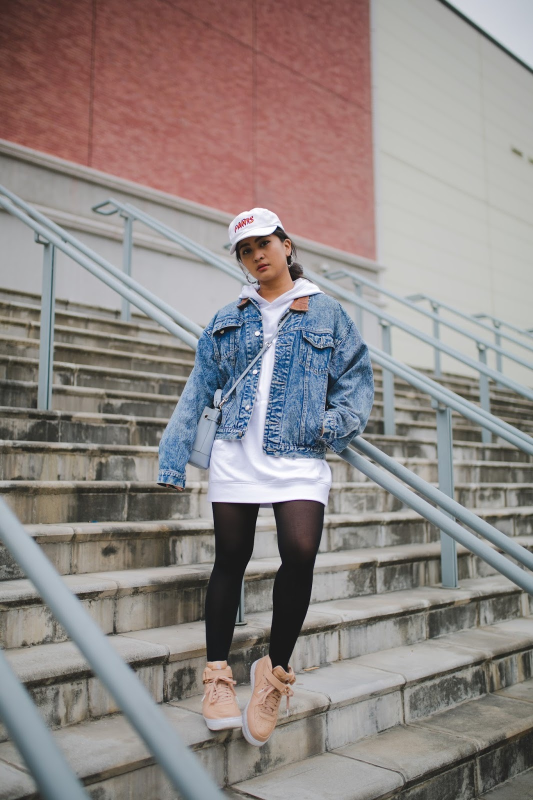 Cozy in Boxy Denim Jacket and Oversize Hoodie