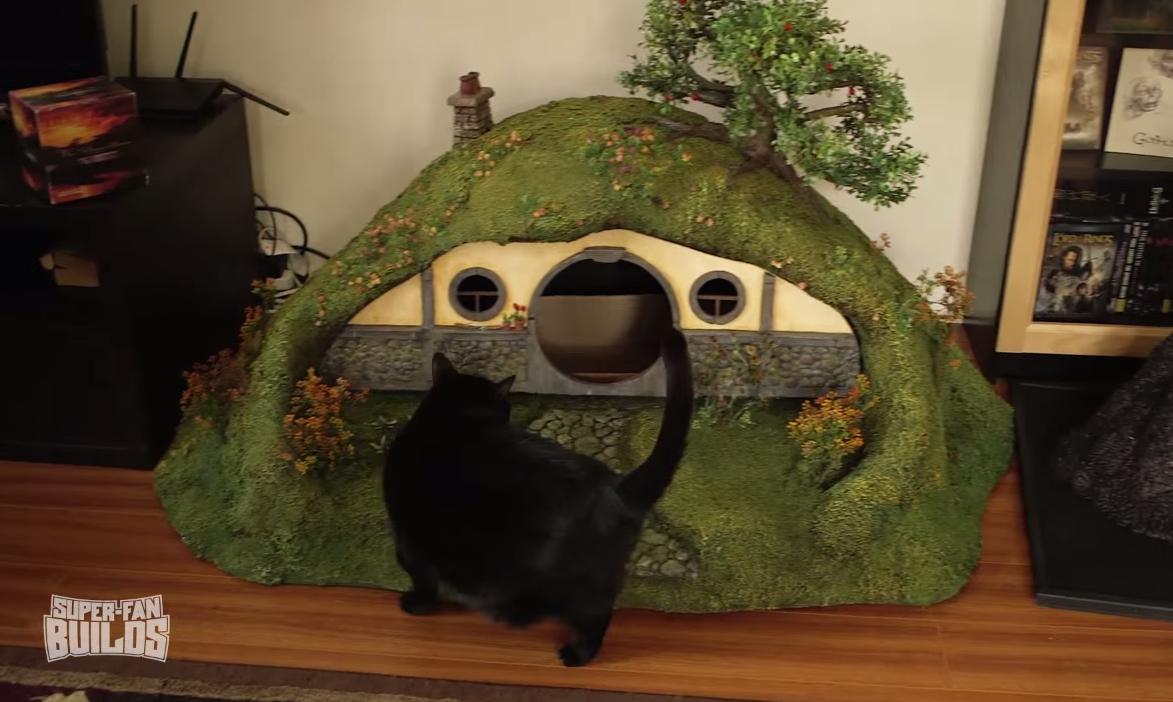 Se or de los anillos crean una casa de hobbit y la torre - La casa de los hobbits ...