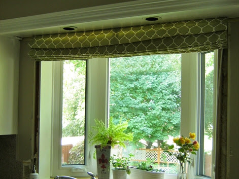 Custom DIY Kitchen Roman Shade