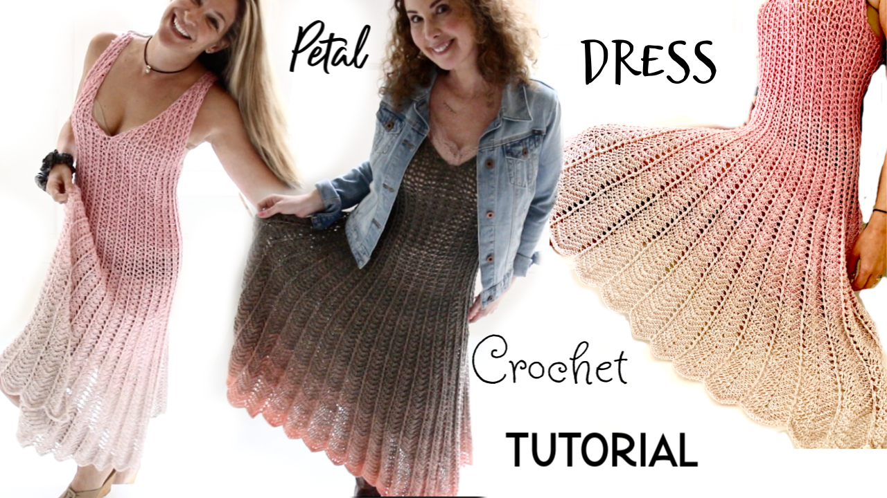 How to crochet doll lace dress / doll clothes - YouTube | 720x1280