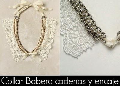 Como hacer un Collar de Encaje y Cadenas
