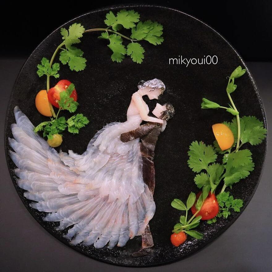 11-Wedding-Night-Mikyou-Sashimi-Art-in-Fish-Food-Art-www-designstack-co