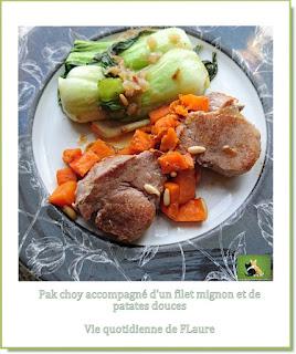 Vie quotidienne de FLaure : Chou chinois pak choy braisé et cuit al dente