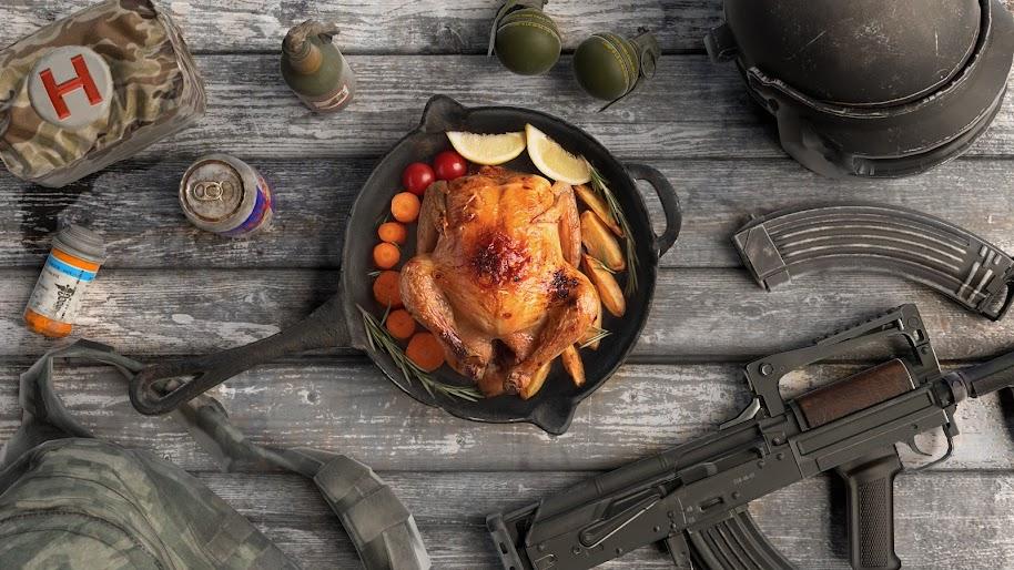 Pubg Chicken Dinner Playerunknown S Battlegrounds 4k Wallpaper 3