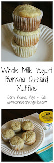 Whole Milk Yogurt Banana Custard Muffins #AEdairy #dairymonth #sponsored
