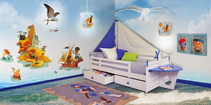 Dormitorios piratas para ni os colores en casa for Decorar techo habitacion