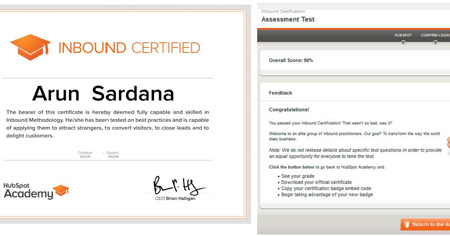 inbound hubspot marketing certification
