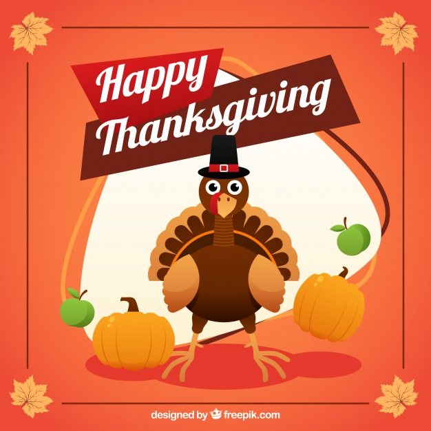 Happy thanksgiving day background Free Vector