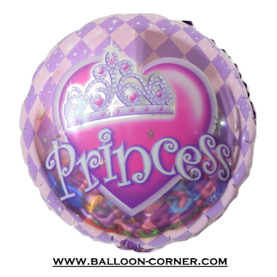 Balon Foil Bulat Princess Crown