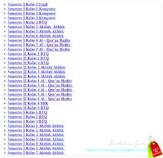 Download Kumpulan Soal UTS Semester 1 dan Semester 2 SD/MI