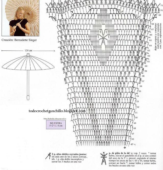 Cómo hacer una sombrilla tejida al crochet / tutorial 3 modelos en ...