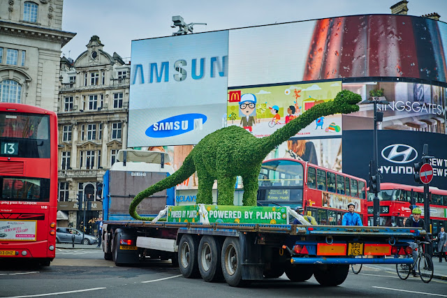 Florasaurus at London Piccadilly circus