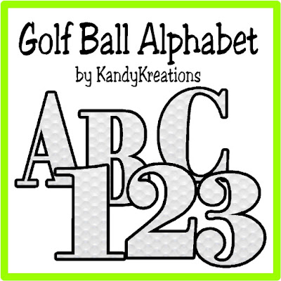 I love this golf ball alphabet for making beautiful golf scrapbook pages! This free alphabet has the numbers 1-9 and the capital letters A-Z with a dimpled golf ball background.  How awesome is that for Father's Day scrapbook pages?