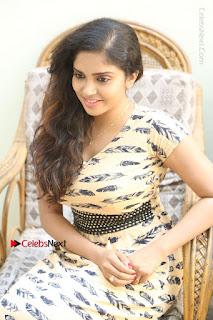 Telugu Actress Karunya Chowdary Stills in Short Dress at ATM Not Working Press Meet  0236.jpg