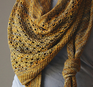knitnscribble.com: Shawl knitting patterns to wear as a triangle ...