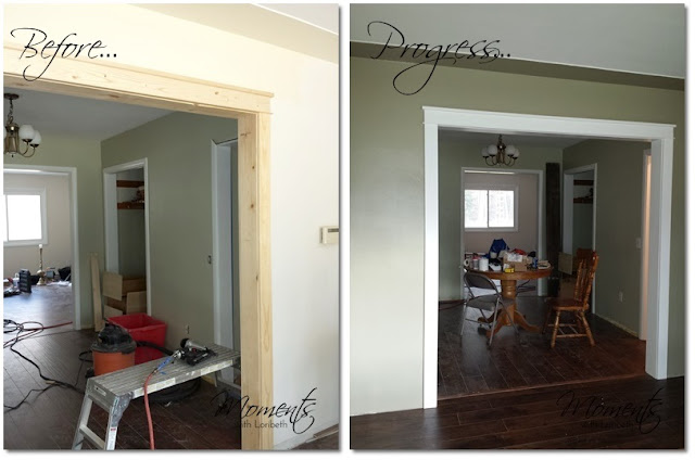Opening between the living room and dining room