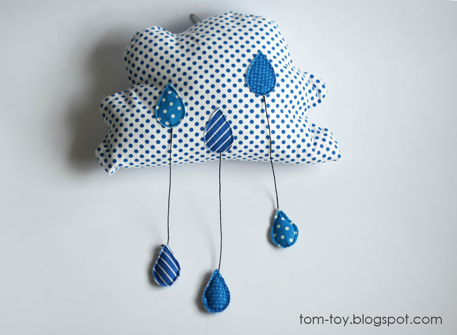 rainy cloud pillow