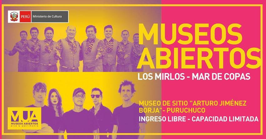 INGRESO LIBRE: Los Mirlos y Mar de Copas este domingo en el Museo de Sitio «Arturo Jiménez Borja» de Puruchuco - Ate - www.cultura.gob.pe