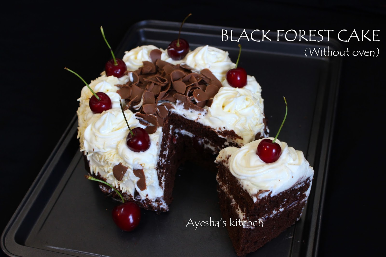How to make black forest cake Black forest cake recipe without oven