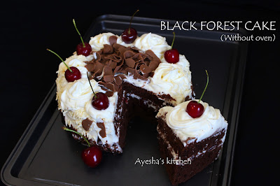black forest cake without oven recipes cake recipes without oven stove top cakes ayeshas kitchen cake recipes desserts simple chocolate cake without oven