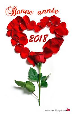 bonne annee 2018 avec fleurs