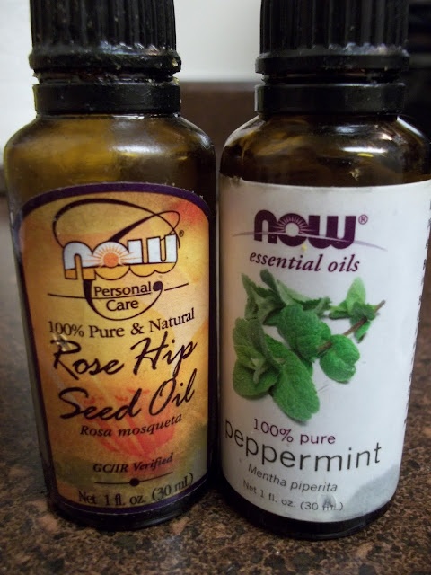 rose hip seed oil, peppermint oil