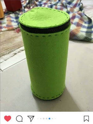 materyaldunyasi35 green felt cylinder