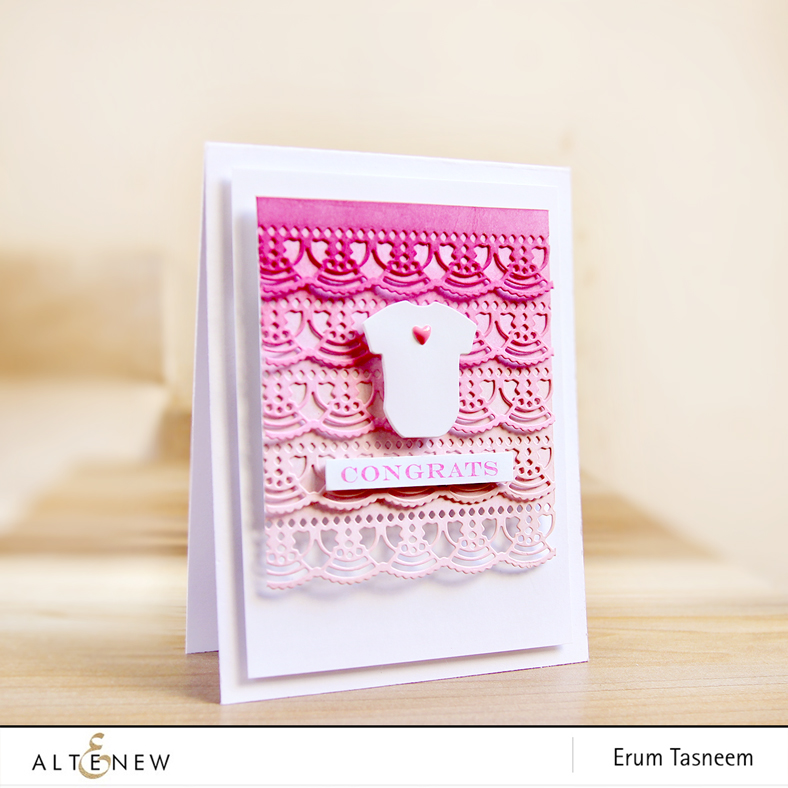Altenew Creative Edges: Lace Die | Little one Stamp and Die Set | Sentiment and Quotes Stamp Set | Erum Tasneem | @pr0digy0
