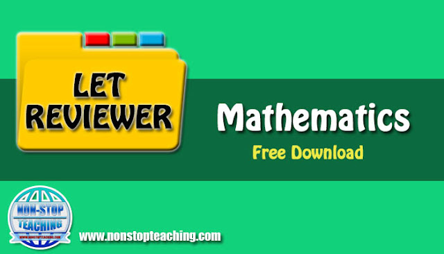 LET Reviewer for Mathematics Major with Answer Keys