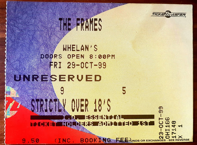 The Frames Concert Ticket 1999 Whelan's