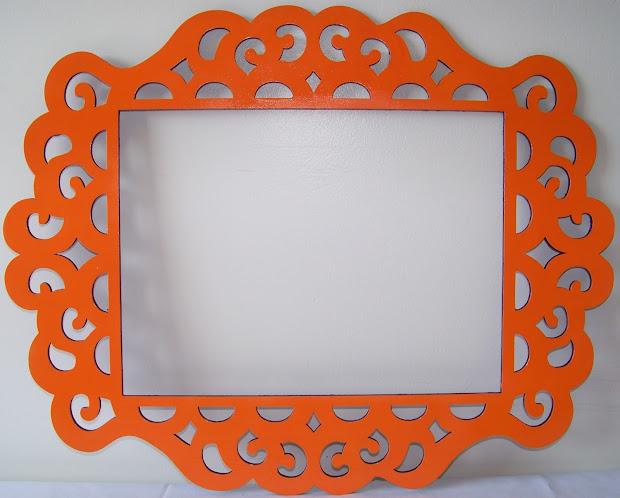 Orange Decorative Frame