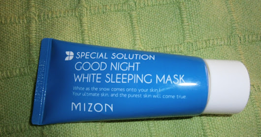 SEMANA ESPECIAL DE LA COSMETICA COREANA... MIZON GOOD NIGHT WHITE SLEEPING MASK