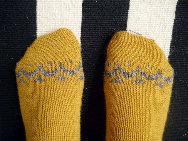 chaussettes en tricot avec motif jacquard