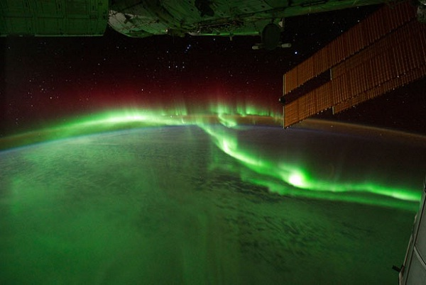 Aurora Australis from outer space