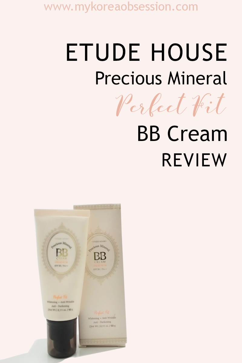 ETUDE HOUSE Precious Mineral Perfect Fit BB Cream Review
