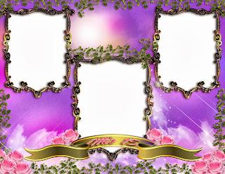 4 diseños de marcos para colocar 3 fotos de XV años