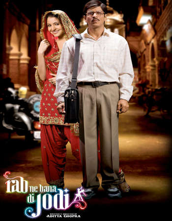 Poster Of Rab Ne Bana Di Jodi 2008 Hindi 500MB BRRip 720p ESubs HEVC Watch Online Free Download Worldfree4u