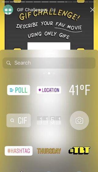 GIF Callenge Template Instagram