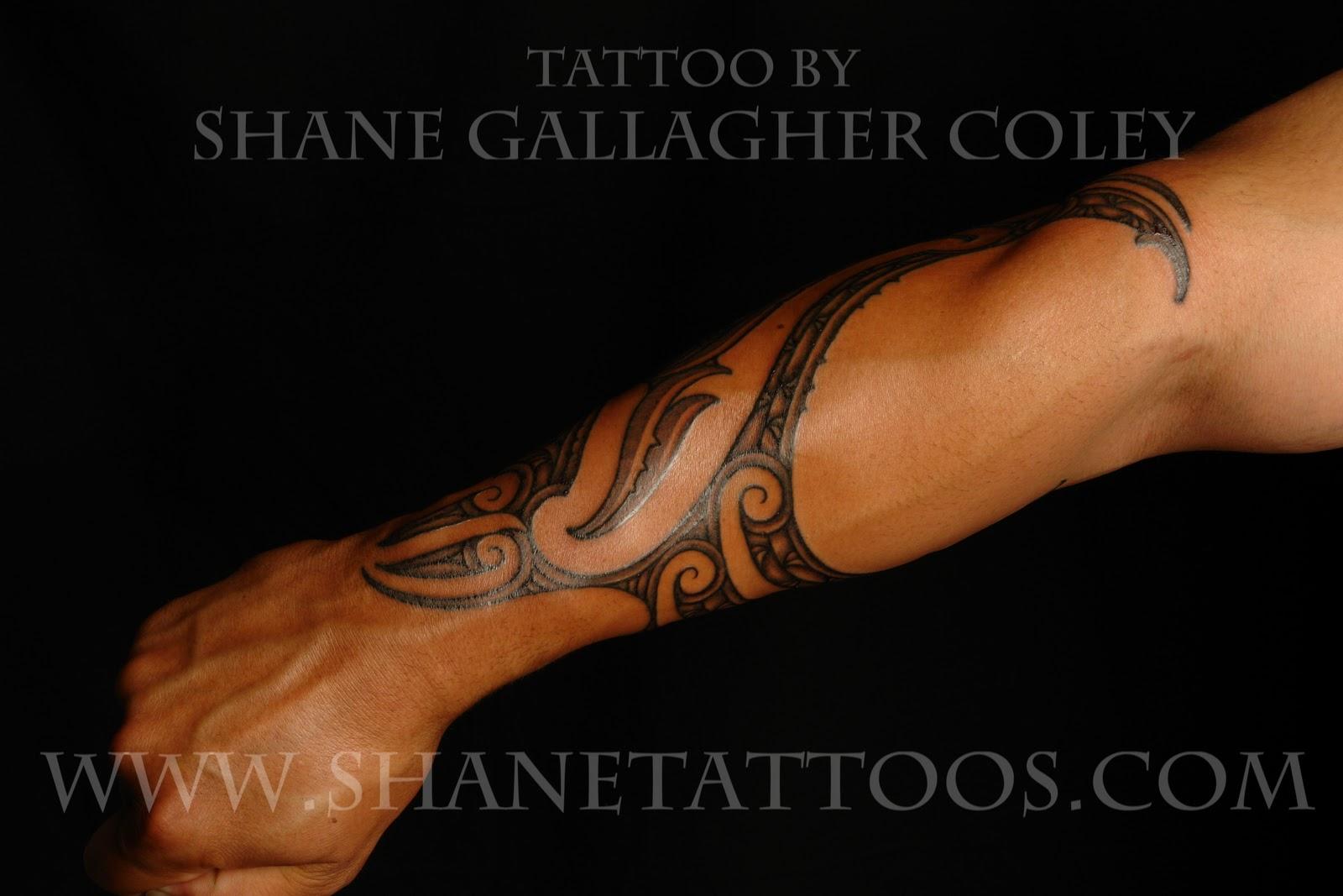 Maori Forearm Tattoo: MAORI POLYNESIAN TATTOO: Maori Forearm Tattoo On Anthony