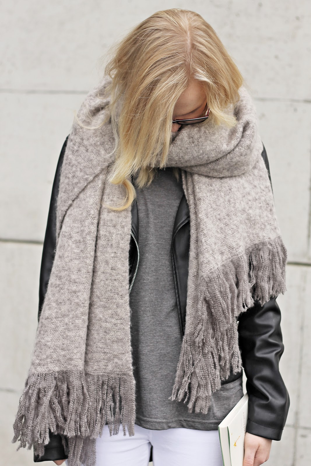 grey on grey big scarf