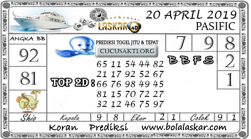 Prediksi Togel PASIFIC LASKAR4D 20 APRIL 2019