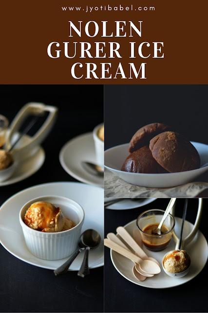 Nolen Gurer (Palm Jaggery) Ice Cream | How to Make Nolen Gur Ice Cream